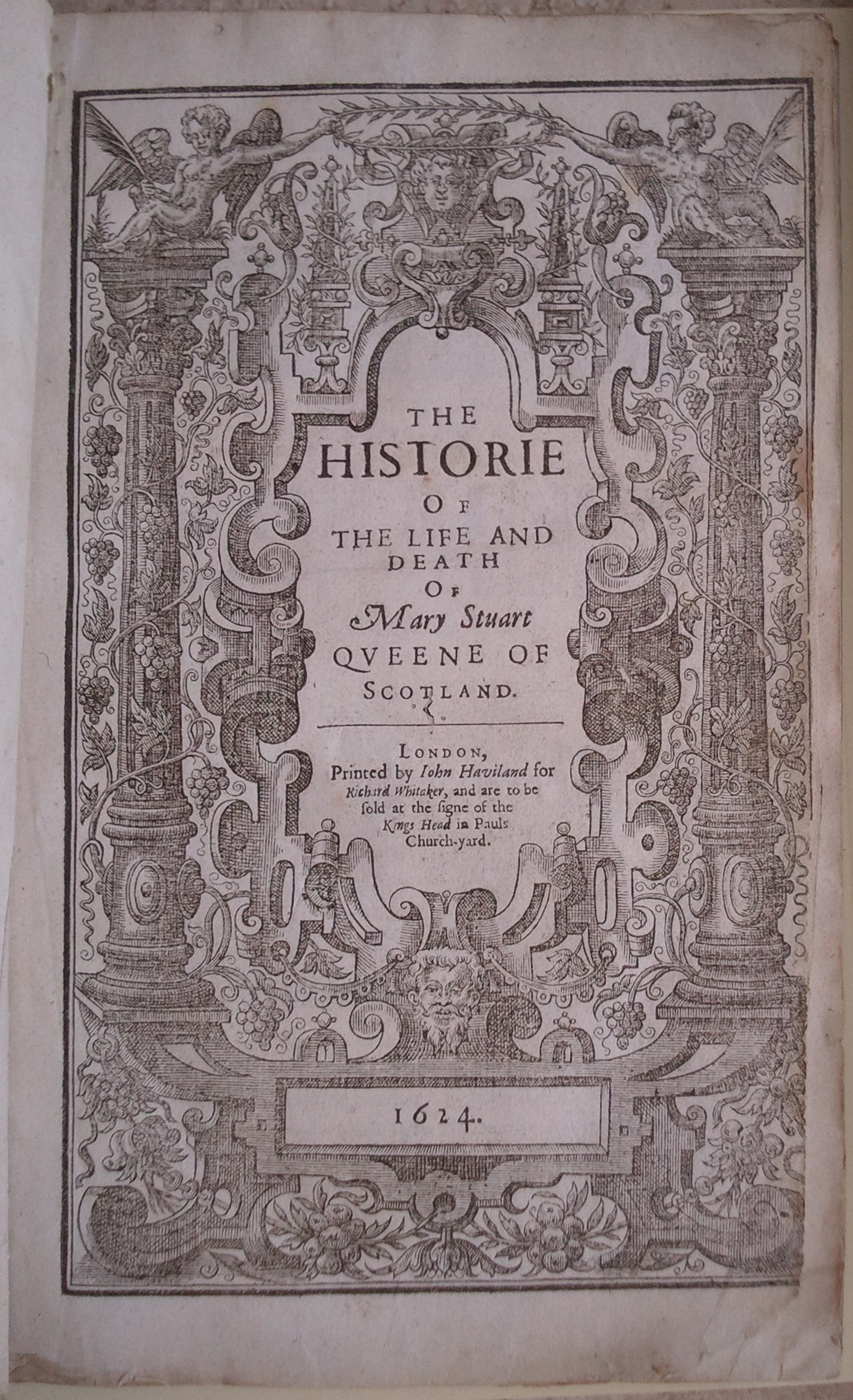 title page the historie of the land and death of mary stuart