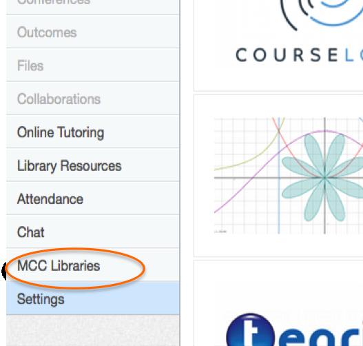 MCC Libraries Link