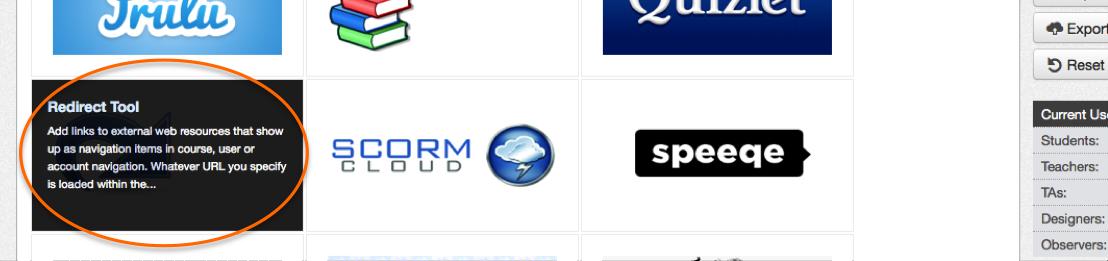 redirect tool name