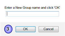 Screenshot of Endnote Basic and naming a new group