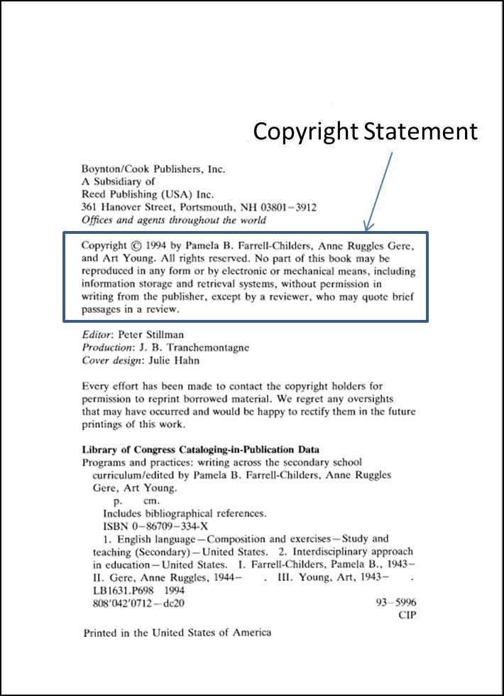eBook copyright page