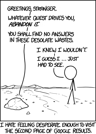second comic by xkcd