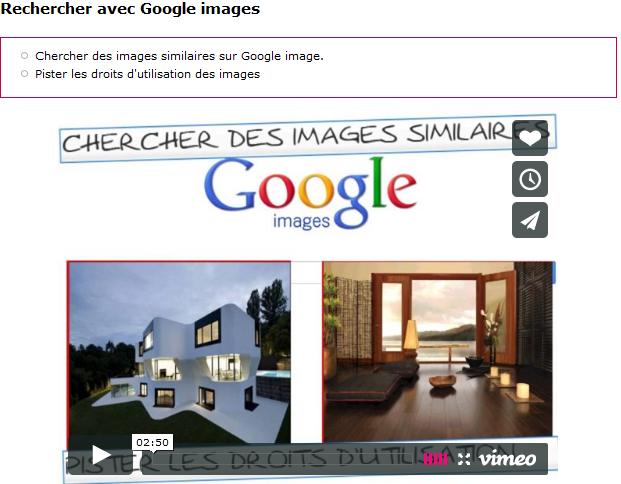 rechercher avec Google images