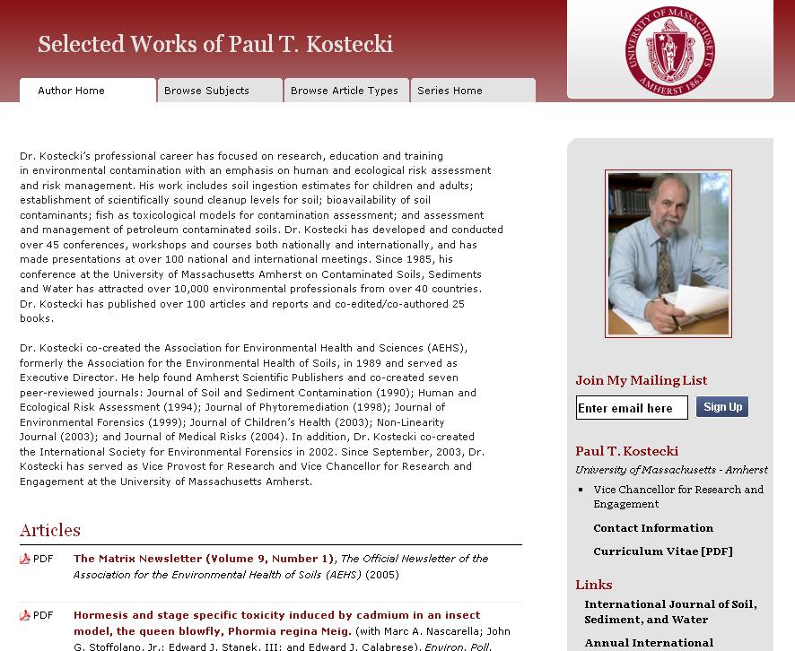 Koestecki example