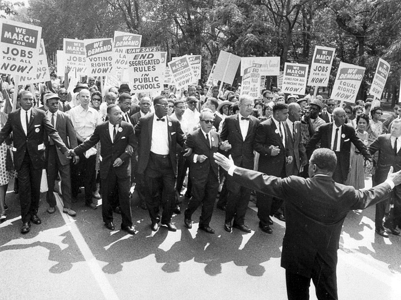 Civil Rights Activists Marching in the 1960s