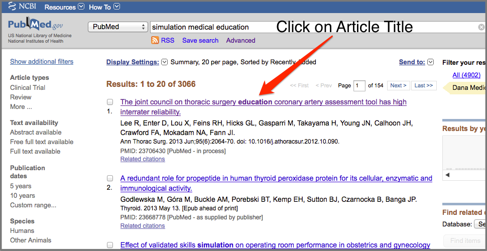 PubMed Article Title