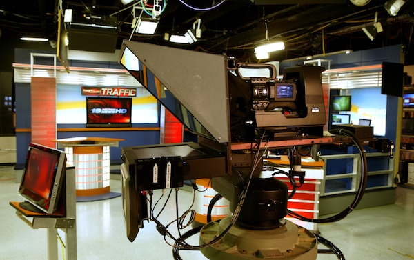 Photograph of WOIO-TV studio in Cleveland Ohio from 2008