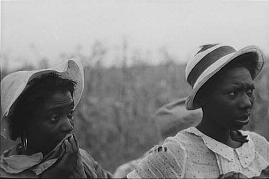 Negro day laborers employed in picking cotton at Lake Dick Project, Arkansas