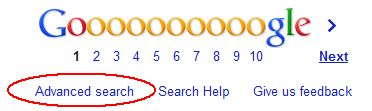 Google Advanced Search Link