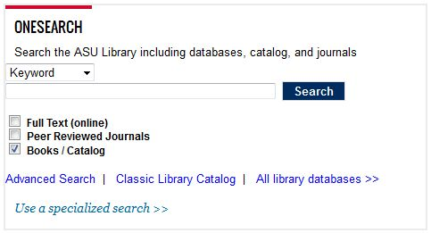 OneSearch - Library Homepage