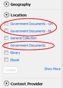 Gov Docs in OneSearch