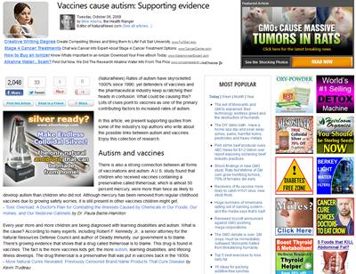 Vaccines Cause Autism Site
