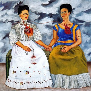 "Frida Kahlo, ""Two Fridas"", 1939. Flickr, Creative Commons."