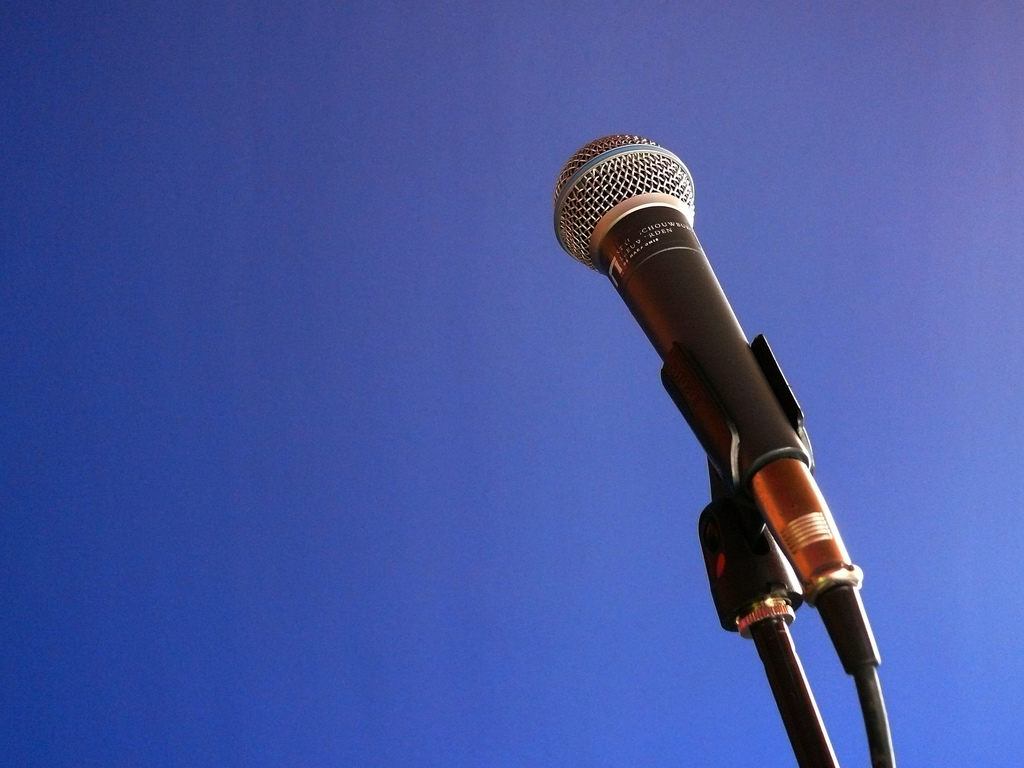 Photo of microphone from Flickr user hiddedevries