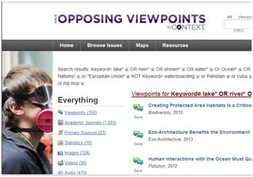 Opposing Viewpoints search for geopolitics