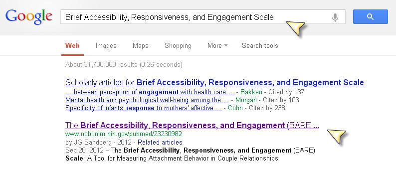 Screenshot Google Results
