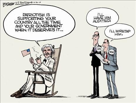 Mark twain cartoon on patriotism