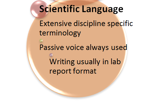 Scientific language