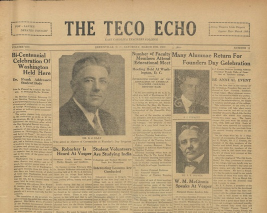 Image of an old Teco Echo newspaper