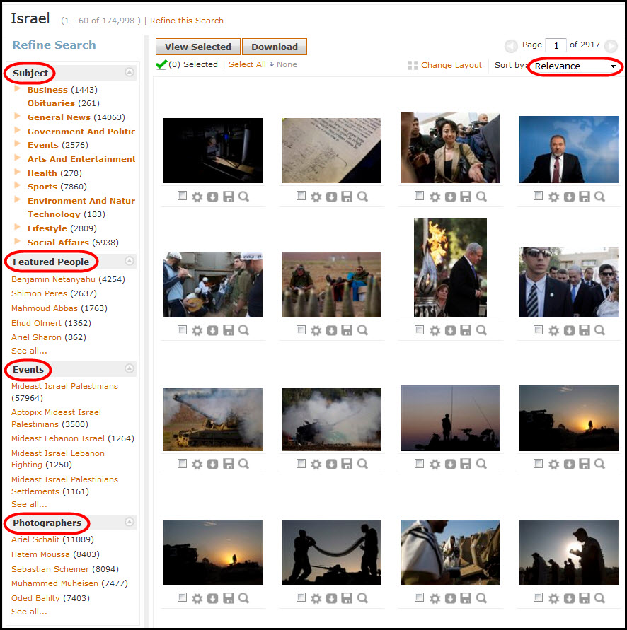 Screenshot showing step - refine search