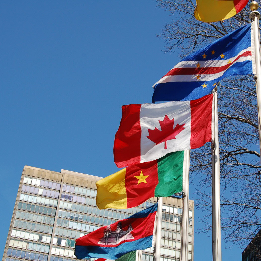 Flags at United Nations (UN)