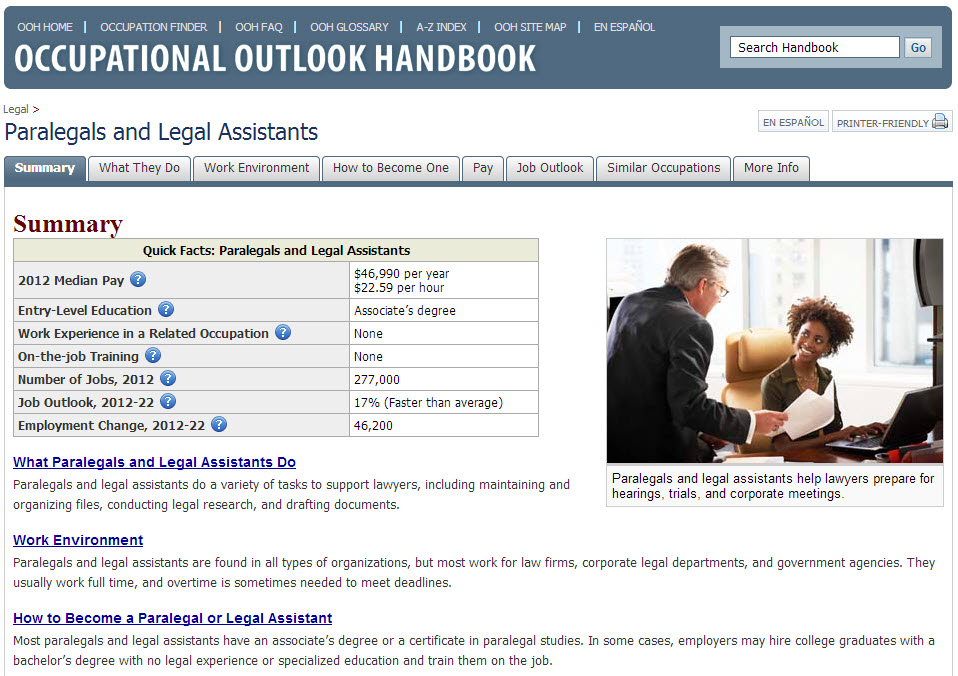 Screenshot of OOH website