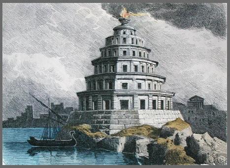 Great Lighthouse of Alexandria, copyright of Bridgeman Art Library