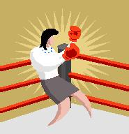 Picture of a woman with boxing gloves