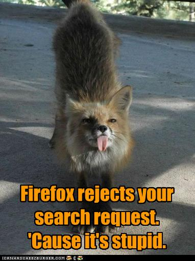 Firefox rejects