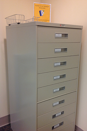 microcard cabinet
