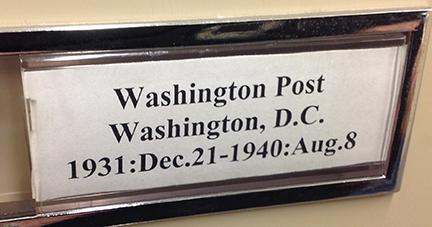 washington post label