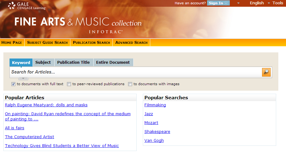 Fine Arts &amp; Music Collection