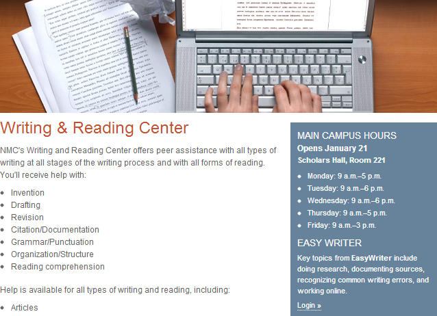 Writing & Reading Center