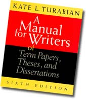 Turabian writer manual cover