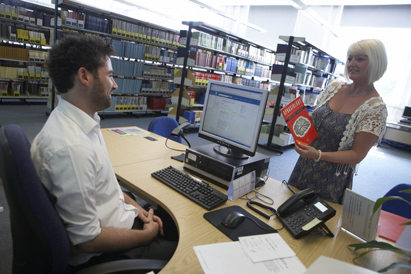 Photo of enquiry desk