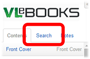 VLeBooks search within ebooks option screenshot