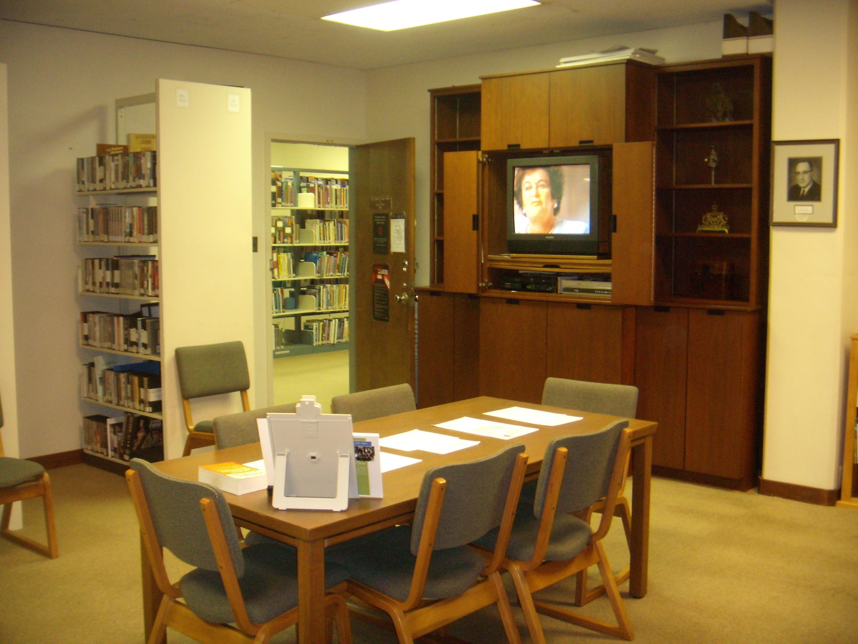 TV for watching documentaries and survivor testimonies