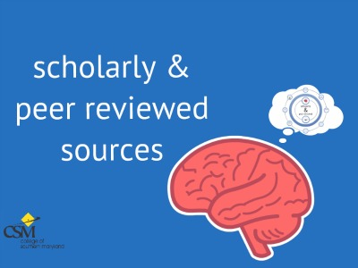 Scholarly and Peer Reviewed Resources Tutorial