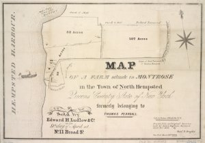 Map of Farm in Montrose from NYPL collection