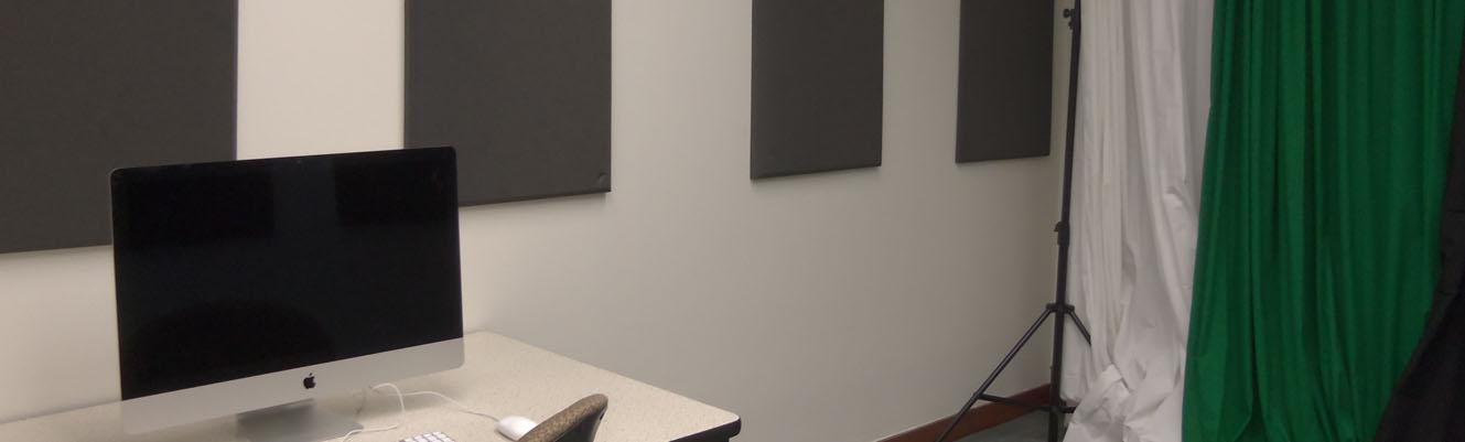 Picture of Digital Media Lab recording room