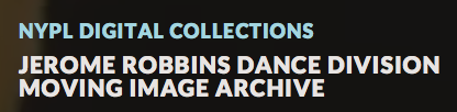 Logo for the NYPL Dance Division Moving Image Archive