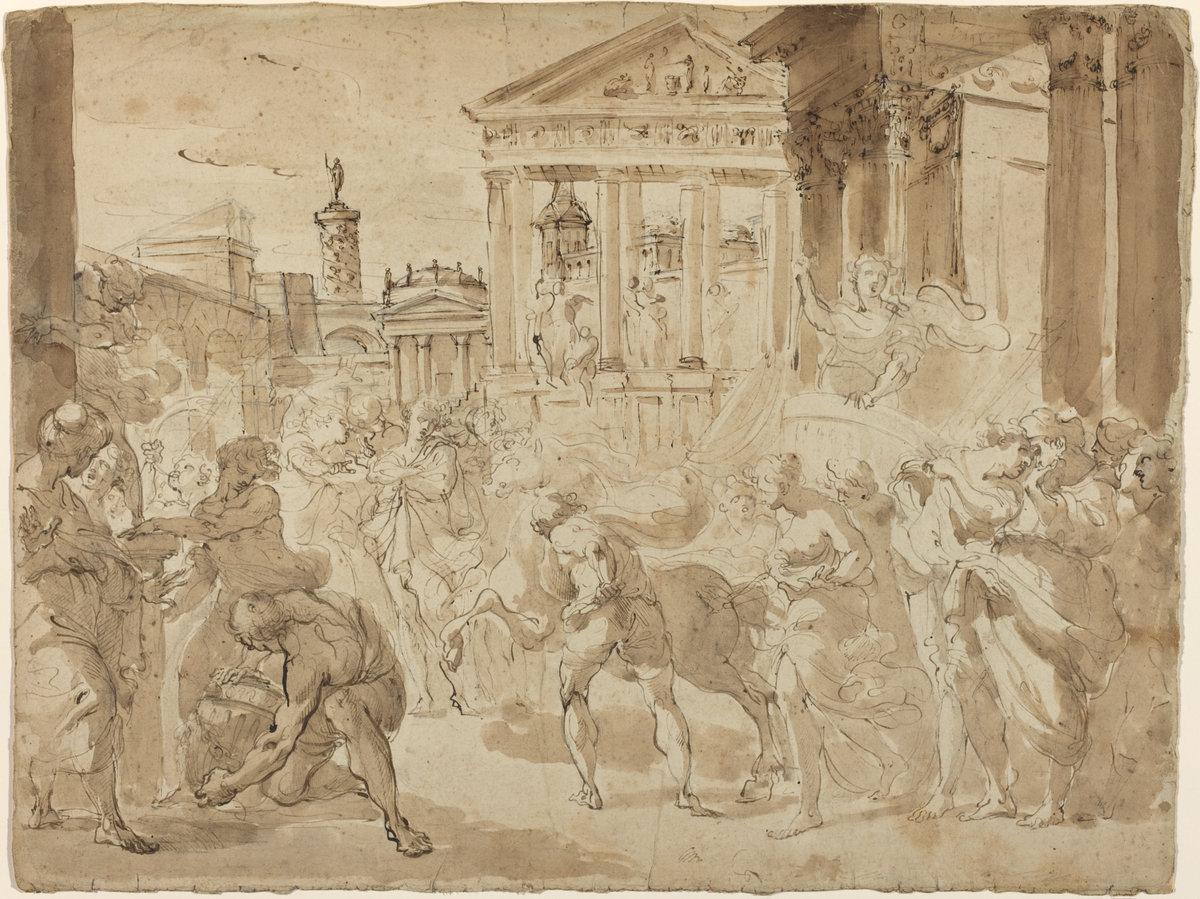 Gaetano Gandolfi A Triumphal Procession in Ancient Rome c. 1780