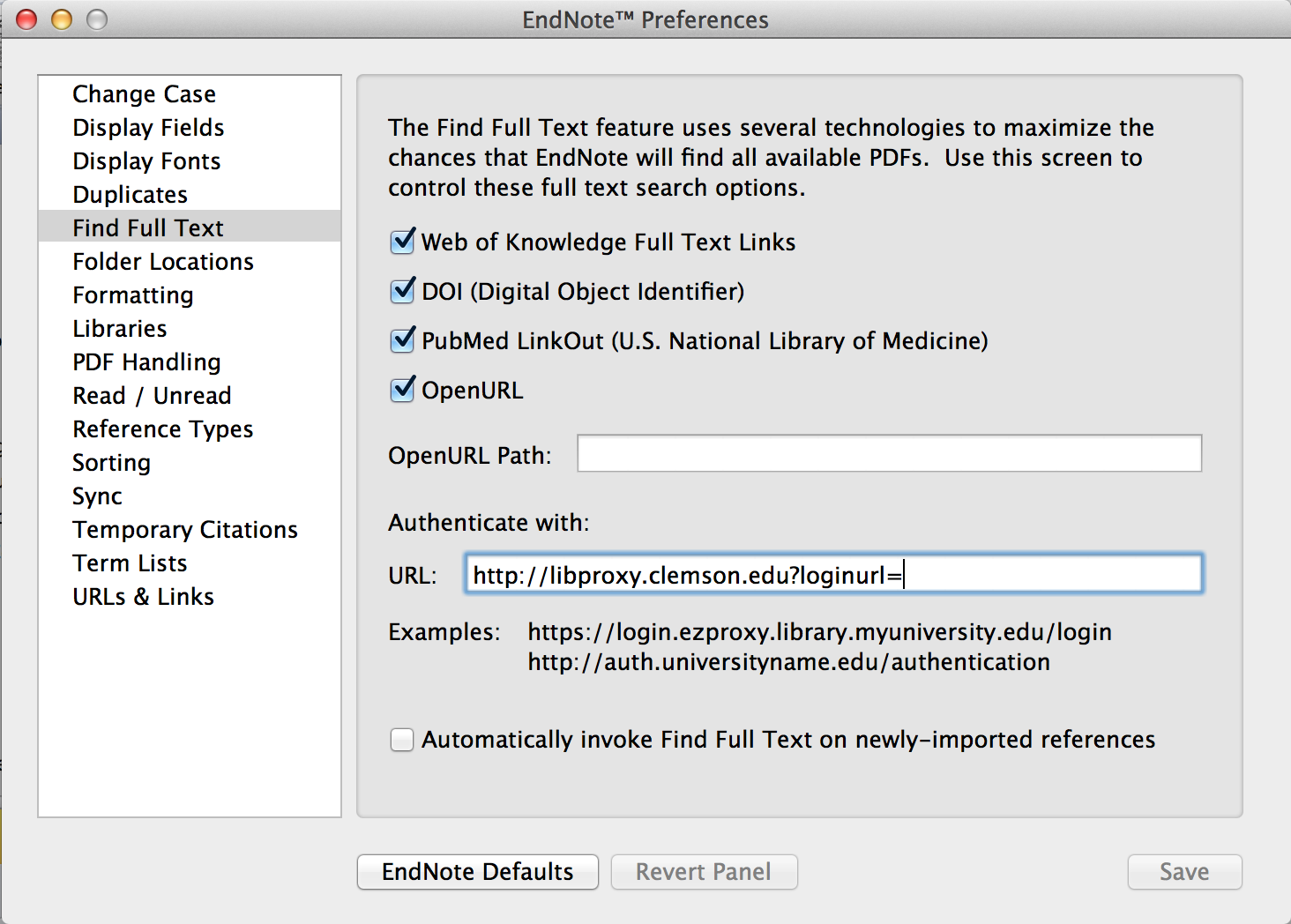 "Screenshot showing ""Authenticate with"" field"