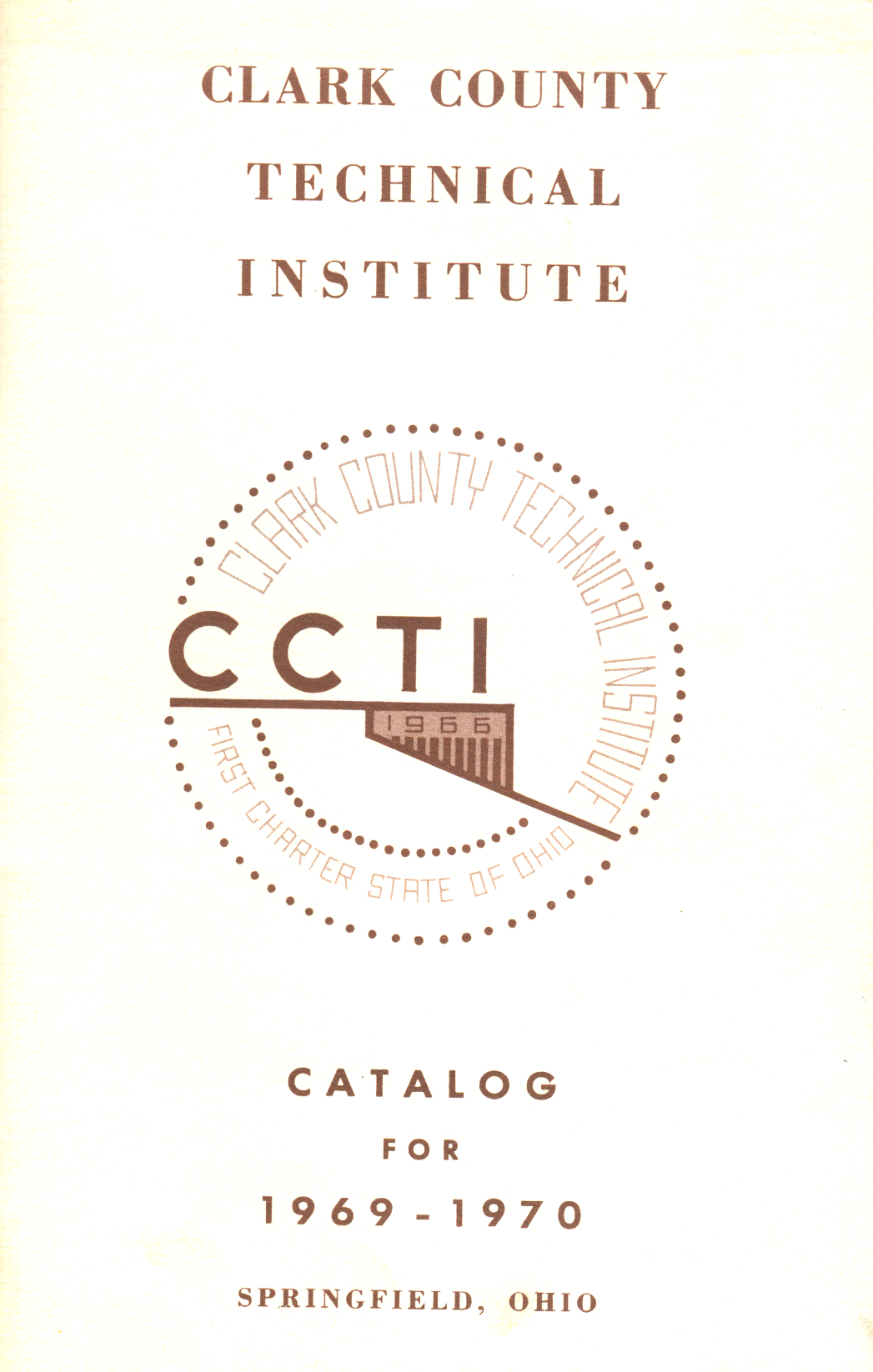 archive image of Clark State class catalog