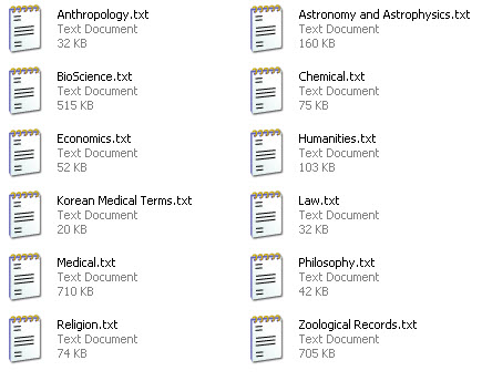 Term list files in EndNote