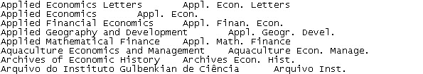 Journal terms in the EndNote journal text files