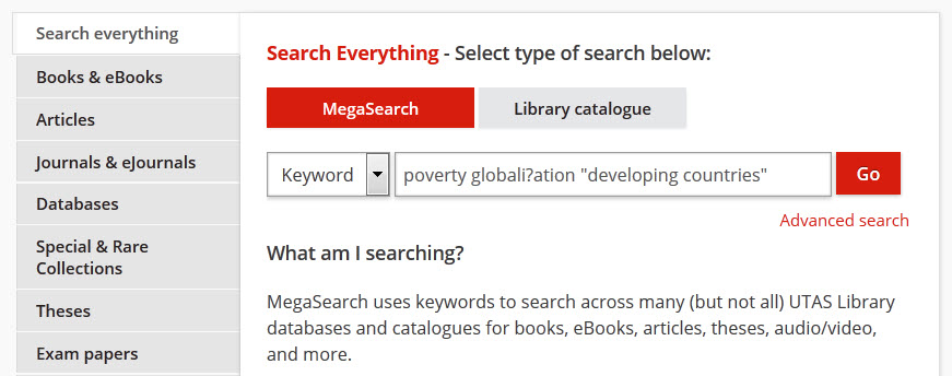 keyword search example