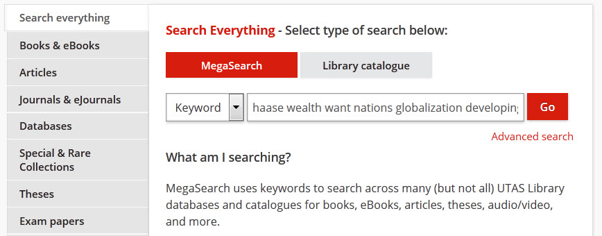 known article search example
