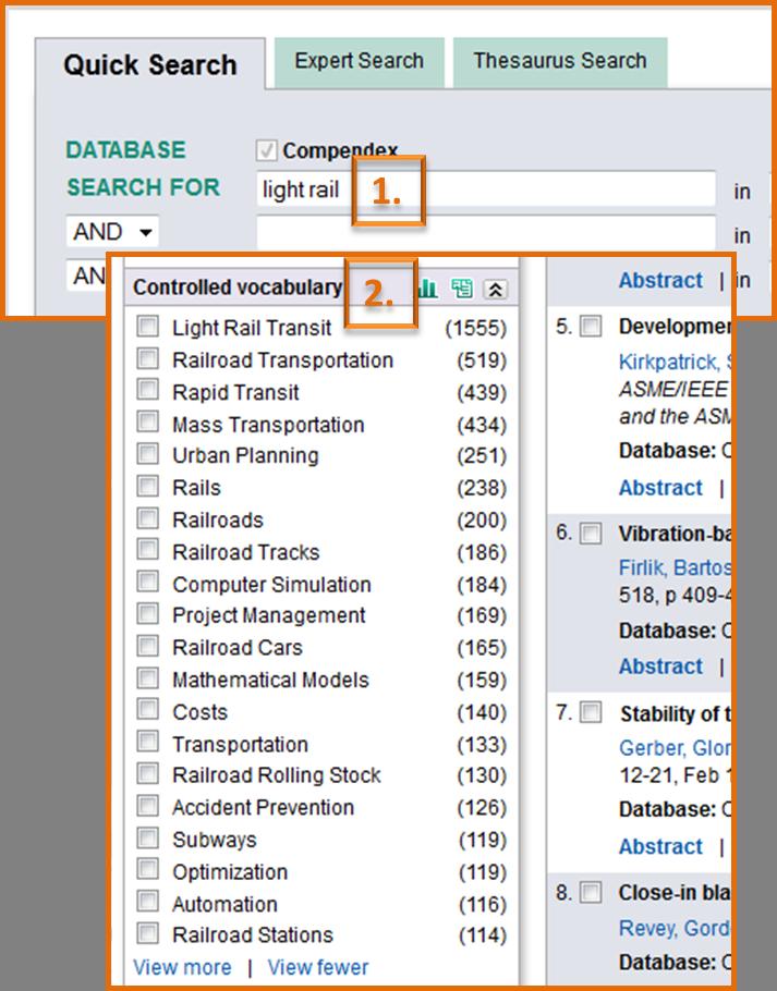 screenshot of search bar