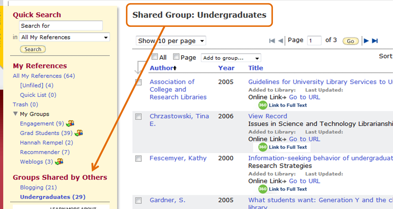 Creating Group Libraries in EndNote Web